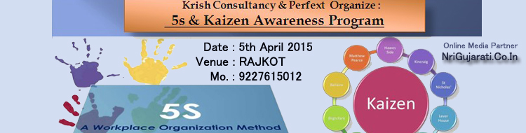 5S and Kaizen Awarness Program in Rajkot
