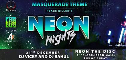 neon nights theme based new year party 2014 in surat at neon the disc iscon mall piplod