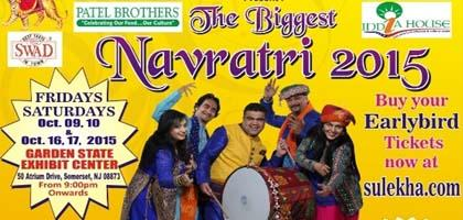 Navratri 2015 by indo american cultural religious and - Garden state exhibit center somerset nj ...