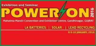 11th Power on International Battery Exhibition & Conference 2016 at Gandhinagar India