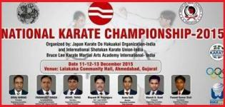 16th National Karate Championship 2015 in Ahmedabad at Lalakaka Community Hall