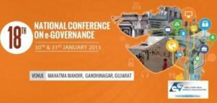 18th National Conference on e-Governance 2015 Gandhinagar Gujarat on 30-31 January