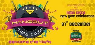 2015 HANGOUT ILLUMI-NATION Party at Courtyard Marriott Ahmedabad with Neon Disco and  DJ Nihar