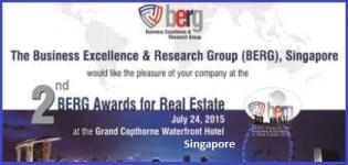 2nd BERG Real Estate Awards 2015 at Singapore