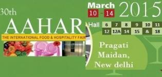 30th AAHAR The International Food & Hospitality Fair 2015 in New Delhi at Pragati Maidan