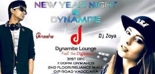 31st New Year Party 2016 at Dynamite Lounge Vadodara with DJ Nasha and DJ Zoya
