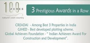 3 Prestigious Awards in a Row - 100 Acres by JBR Nirmaan Pvt Ltd Ahmadabad