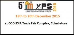 5th Industrial Maintenance Expo 2015 Coimbatore - Trade Fairs for Industrial Maintenance