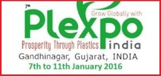 7th Plexpoindia 2016 - Plastic Exhibition in India at Gandhinagar Gujarat