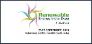 9th Renewable Energy India Expo/Exhibition 2015 - UBM Event at Greater Noida