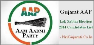 Gujarat AAP Lok Sabha Election 2014 Candidates List - AAP Member Names