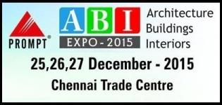 ABI Expo 2015 Chennai - Architecture, Building & Interiors Exhibition India