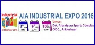 AIA Industrial Expo Ankleshwar 2016 at GIDC from 8th to 10th January