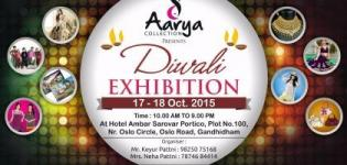 Aarya Collection Presents Diwali Exhibition in Gandhidham on 17 & 18 October 2015