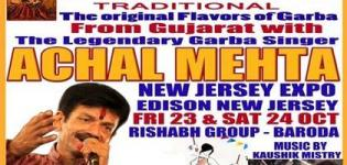 Achal Mehta in New Jersey for Live Garba 2015 Presents by Rishabh Group Baroda