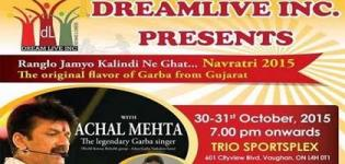 Achal Mehta in USA at Trio Sportsplex for Navratri 2015 Presents by Dreamlive Inc