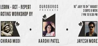Acting workshop by Chirag Modi Arrange by Ouroboros Theatre Company for You All People