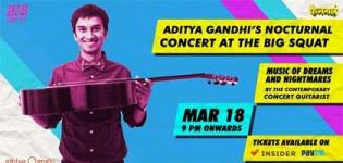 Aditya Gandhi's Nocturnal Concert 2018 in Ahmedabad at The Dugout Cafe & Eatery