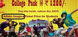 Adlabs Imagica Ticket Price for Students - Special Discount Rates