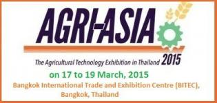 Agri Asia 2015 - International Agricultural Technology Exhibition at Bangkok Thailand