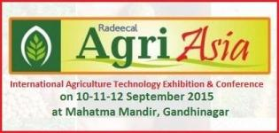 Agri Asia 2015 - International Agriculture Technology Exhibition and Conference in Gandhinagar