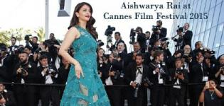 Aishwarya Rai Bachchan in Green Sheer Evening Gown at 68th Cannes Film Festival 2015
