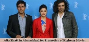 Alia Bhatt and Randeep Hooda in Ahmedabad for Promotion of Highway Movie 2014