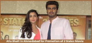 Alia Bhatt in Ahmedabad for TWO States 2014 Bollywood Hindi Movie Promotion with Arjun Kapoor