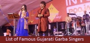 All Famous Gujarati Garba Singers List - Best Male Female Navratri Singer Names