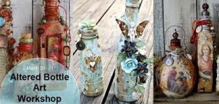 Altered Bottle Art Workshop 2018 in Ahmedabad at PH Designs Studio