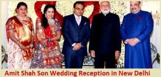 Amit Shah Son Jay Shah Wedding Reception in New Delhi on 15 Feb 2015 - President PM & VIP Guests
