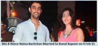 Amitabh Bachchan Niece Naina Bachchan Married to Kunal Kapoor on 9 February 2015