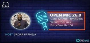 An Open Mic 26.0 Event arrange for all People in Surat - Details of Night Event