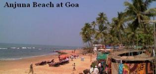 Anjuna Beach in North Goa India - Information - Attraction - Details - Photos