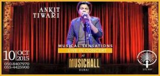 Ankit Tiwari Live Concert with Sonu Kakkar in Dubai on 10 October 2015
