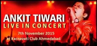 Ankit Tiwari Live in Concert in Ahmedabad at Karnavati Club on 7th November 2015