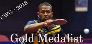 Anthony Amalraj Wins Gold Medal in Commonwealth Games 2018 for Table tennis