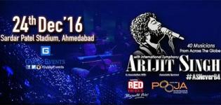 Arijit Singh As Never Before 2016 with International Symphony in Ahmedabad at Sardar Patel Stadium