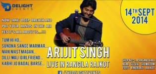 Arijit Singh in RAJKOT 2014 - ARIJIT SINGH Live in Concert at RAJKOT Garden Dinner Club