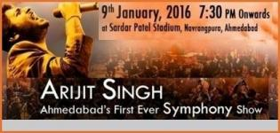 Arijit Singh Live Concert with Symphony Festival 2016 in Ahmedabad at Sardar Patel Stadium