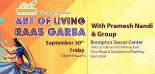 Art of Living Raas Garba 2016 in Brampton with Pramesh Nandi at Brampton Soccer Centre