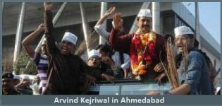 Arvind Kejriwal in Gujarat - Arvind Kejriwal Roadshow in Ahmedabad India for AAP Party