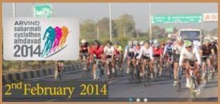 Arvind Sabarmati Cyclothon in Ahmedabad 2014