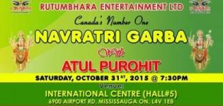 Atul Purohit Navratri Garba 2015 in Mississauga ON by Rutumbhara Entertainment LTD
