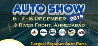 Auto Show 2019 in Ahmedabad at Riverfront from 6th to 8th December