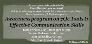 Awareness Program on 7 Qc Tools and Effective Communication Skill by Vaishali Parekh in Rajkot