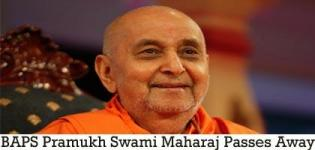 BAPS Pramukh Swami Maharaj Passes Away on 13th August 2016 at Salangpur Gujarat