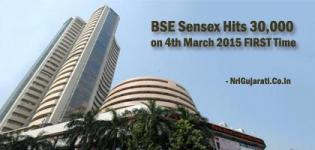 BSE Sensex Hits 30,000 on 4th March 2015 FIRST Time due to Repo Rate Cut by RBI