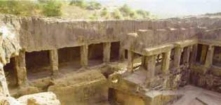 Baba Pyare Caves in Junagadh Gujarat - Buddhist Caves History Information and Photos
