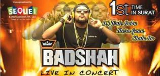 Badshah Live Concert 2016 in Surat at International Exhibition and Convention Centres